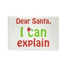 Santa I Can Explain Rectangle Magnet