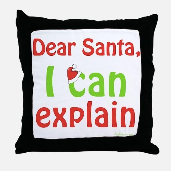Santa I Can Explain Throw Pillow
