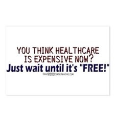 """""""Free"""" healthcare? Postcards (Package of 8)"""
