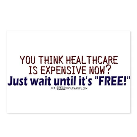 """Free"" healthcare? Postcards (Package of 8)"