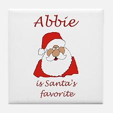 Abbie Santa Tile Coaster