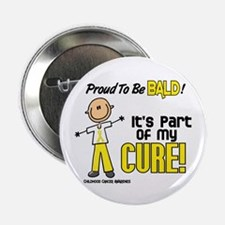 "Bald 1 Childhood Cancer (SFT) 2.25"" Button"