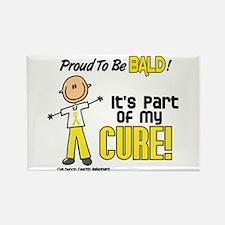 Bald 1 Childhood Cancer (SFT) Rectangle Magnet