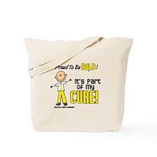 Bald 1 Childhood Cancer (SFT) Tote Bag