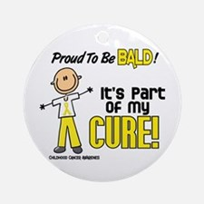 Bald 1 Childhood Cancer (SFT) Ornament (Round)