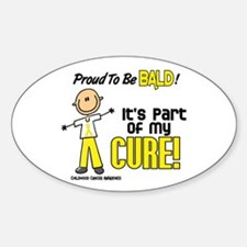 Bald 1 Childhood Cancer (SFT) Oval Decal