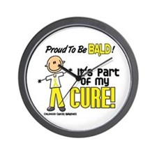 Bald 1 Childhood Cancer (SFT) Wall Clock