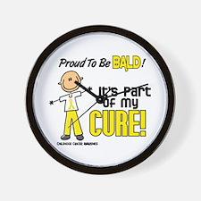 Bald 1 Childhood Cancer (SFT) Wall Clock