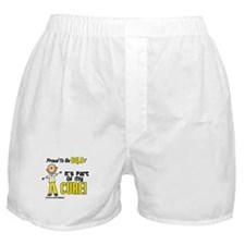 Bald 1 Childhood Cancer (SFT) Boxer Shorts