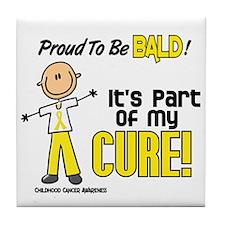 Bald 1 Childhood Cancer (SFT) Tile Coaster