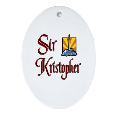 Sir Kristopher Oval Ornament
