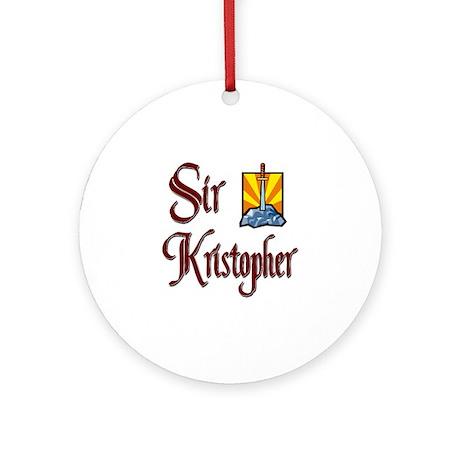 Sir Kristopher Ornament (Round)