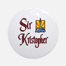 Sir Kristopher Ornament (Round)