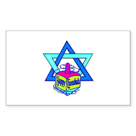 Hanukkah Oh Chanukah Sticker (Rectangle)