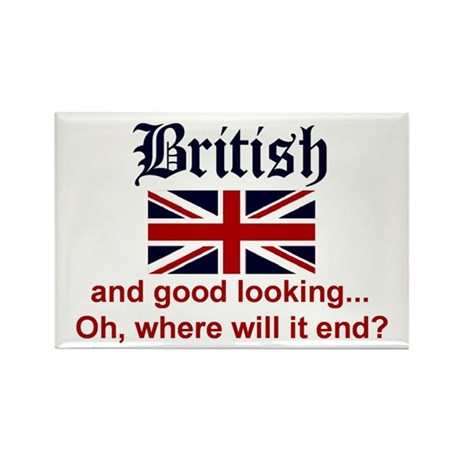Good Looking British Rectangle Magnet (100 pack)