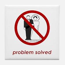 Problem Solved Tile Coaster