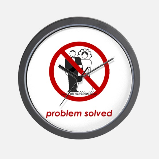Problem Solved Wall Clock
