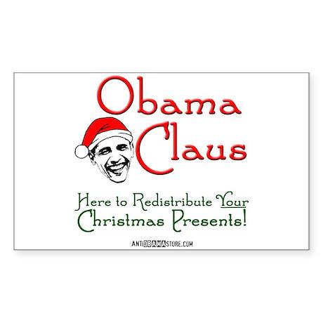 Obama Claus! Rectangle Sticker