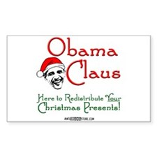 Obama Claus! Rectangle Sticker 10 pk)