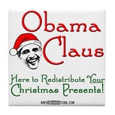 Obama Claus! Tile Coaster