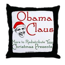 Obama Claus! Throw Pillow
