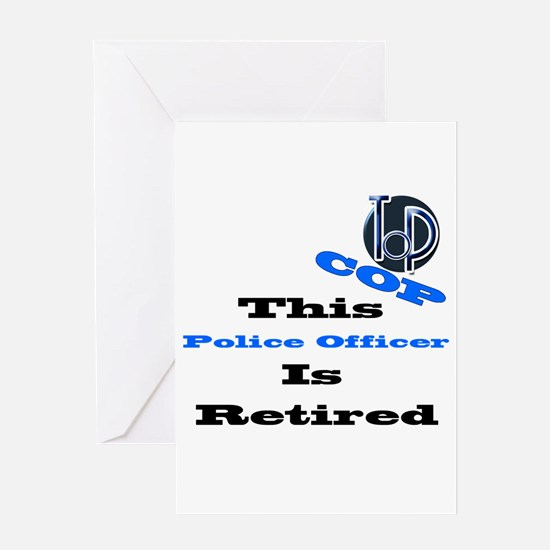 Police Retirement. Greeting Card