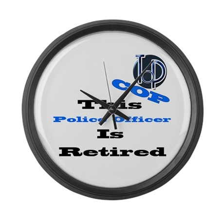 Police Retirement. Large Wall Clock