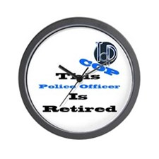 Police Retirement. Wall Clock