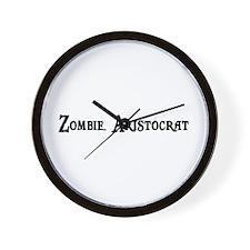 Zombie Aristocrat Wall Clock