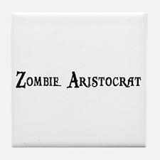 Zombie Aristocrat Tile Coaster