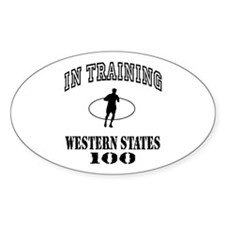 In Training Western States 10 Oval Sticker (10 pk)
