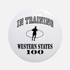 In Training Western States 100 Ornament (Round)