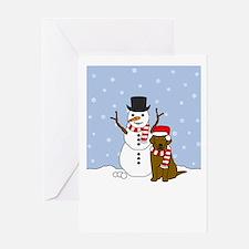 CBR Howling Holiday Greeting Card