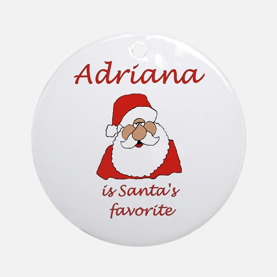Adriana Christmas Ornament (Round)