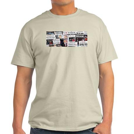 Obama Victory Headline Collag Light T-Shirt