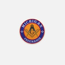 Michigan Masons Mini Button
