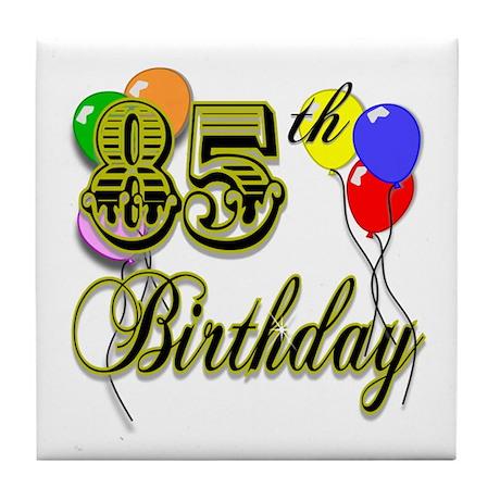 85th Birthday Tile Coaster