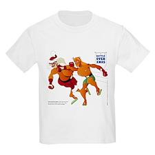 Battle Over Xmas: Jesus vs. Santa T-Shirt