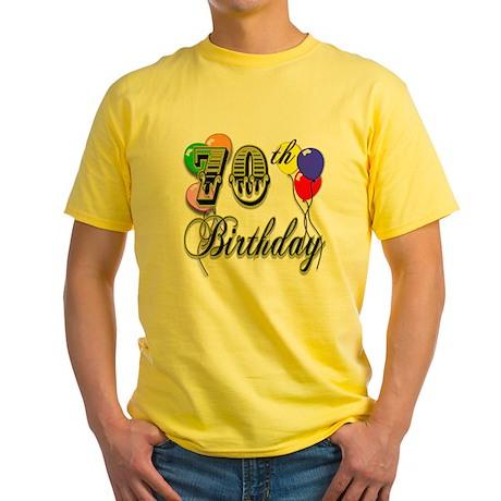 70th Birthday Yellow T-Shirt