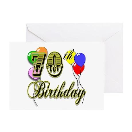 70th Birthday Greeting Cards (Pk of 10)