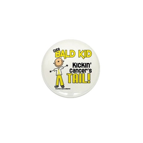 Bald 3 Childhood Cancer (SFT) Mini Button
