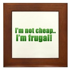 Cool Frugality Framed Tile