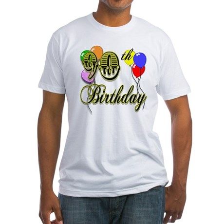 90th Birthday Fitted T-Shirt