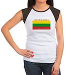 Lithuania Lithuanian Flag Women's Cap Sleeve T-Shi