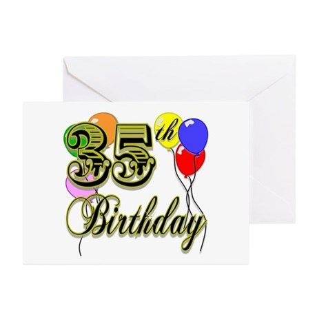 35th Birthday Greeting Cards (Pk of 10)