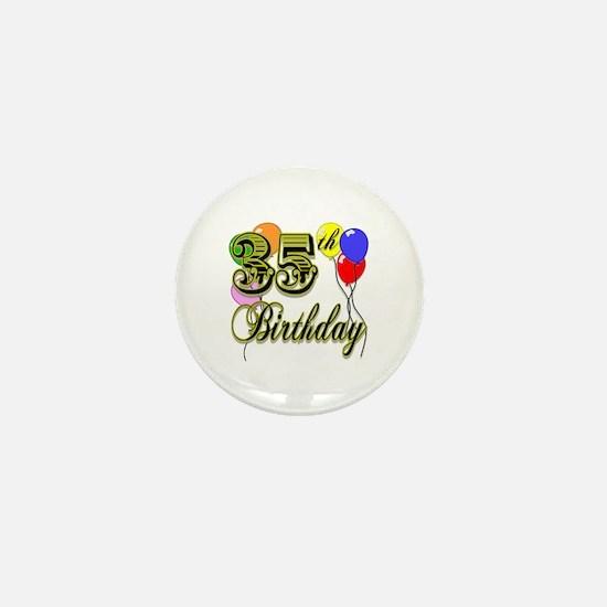 35th Birthday Mini Button