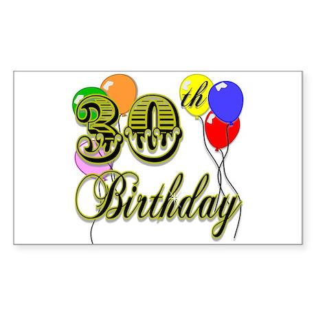 30th Birthday Rectangle Sticker