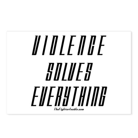 Violence Solves Everything Postcards (Package of 8