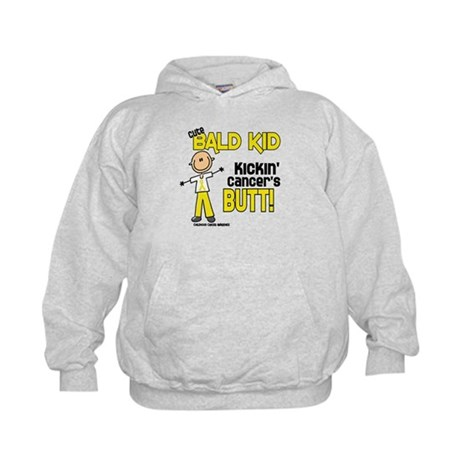 Bald 4 Childhood Cancer (SFT) Kids Hoodie
