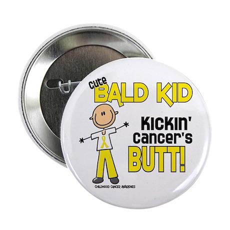 "Bald 4 Childhood Cancer (SFT) 2.25"" Button"